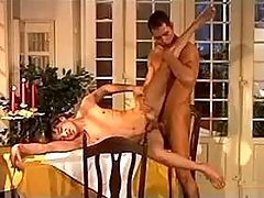 Twofold amateur waiters having getting pleasure right on dinner table