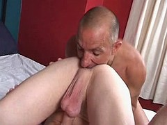 Lustful hunk can't live without to have his beafy pecker sucked