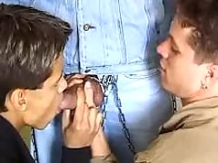 Gay guy erotic asphyxiation of 2 strapping schlongs
