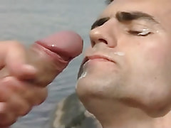 Gay gets extreme facial in nature