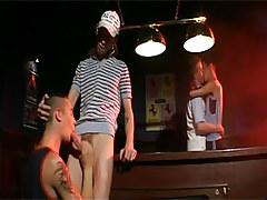 Gay guy man-lovers kiss and suck prides after billiard